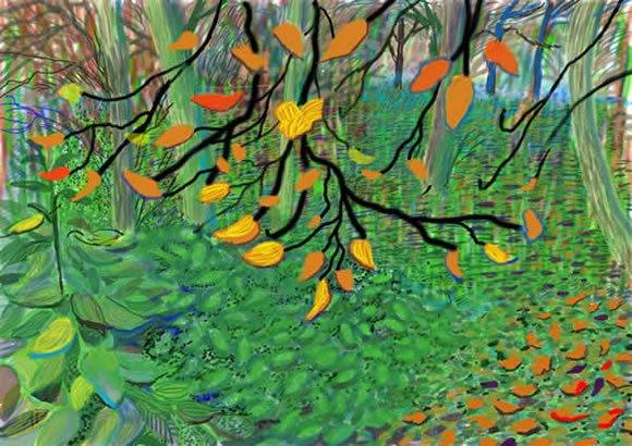 david-hockney-autumn-leaves