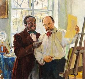 Louis Picard Portrait of Shevchenko for Auction
