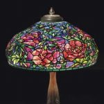 Extraordinary Tiffany Peony Lamp for Christie's 20th-Century Decorative Art & Design Sale