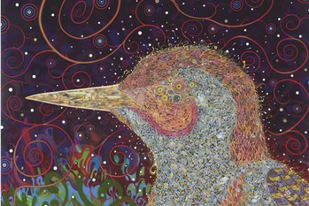 "Fred Tomaselli ""Woodpecker"" Painting Purchased by Virginia Museum of Fine Arts"