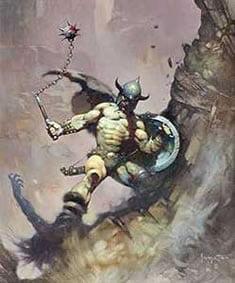Frank Frazetta Fantasy Art Image for Auction Sale