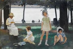 Sir Herbert James Gunn Painting for Bonhams Sale