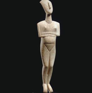 Cycladic Marble Reclining Female Figure for Christies Sale