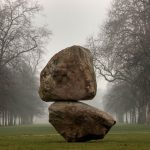 Serpentine Gallery shows Fischli/Weiss Rock on Top of Another Rock
