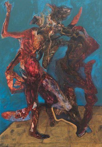Shawki Youssef, Body as space separator, 2010, Mixed media on canvas, 154 x 197 cm