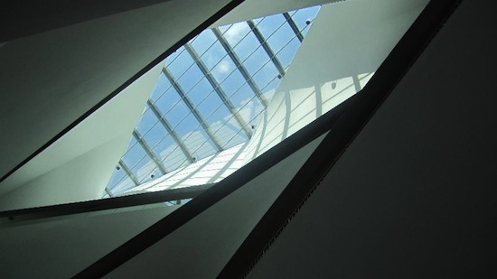 "TA Museum Skylight, photograph, 28"" x 50"", 2012"