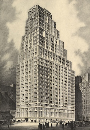 Bricken Textile Building, Buchman & Kahn. Photo: Architectural Forum, June 1930, Collection of The Skyscraper Museum.