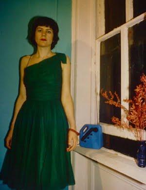 Nan Goldin, Vivienne in the Green Dress, NYC, 1980, cibachrome print, 38 3/4 x 26 in., North Carolina Museum of Art, Gift of Dr. Carlos Garcia-Velez, © 1980 Nan Goldin