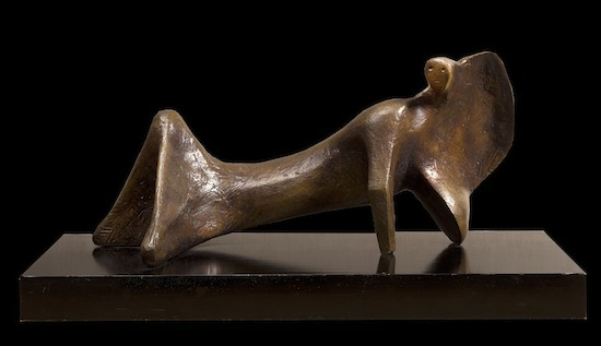 Henry Moore, Reclining Figure, Cloak, Bronze, 1967
