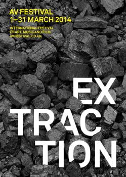AV Festival 14: Extraction. Design: o-sb.co.uk. Photo: Colin Davison.