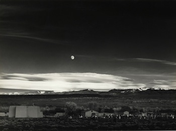 Ansel Adams, American (1902-1984), Moonrise, Hernandez, New Mexico, ca. 1941, vintage silver gelatin print, framed: 16 x 20 inches. ©2013 The Ansel Adams Publishing Rights Trust