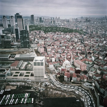 View from the observation deck of Sapphire, Levent, Istanbul, 2014. Photo: Ali Taptık. Courtesy the artist.