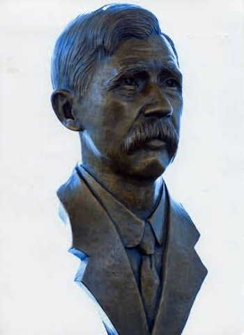Charles E. Taylor bronze bust by artist Virginia Krause Hess