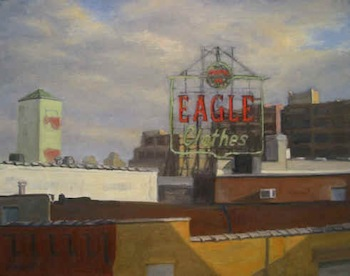 "Ella Yang Eagle Clothes, oil on canvas, 22""x28"", 2007"