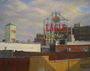 "Ella Yang Eagle Clothes, oil on canvas, 22""x28"", 2007"