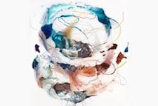 "Rebecca Haseltine, Sense #6, 2014 Mixed media on Mylar 50 x 36"" Courtesy of the Artist"