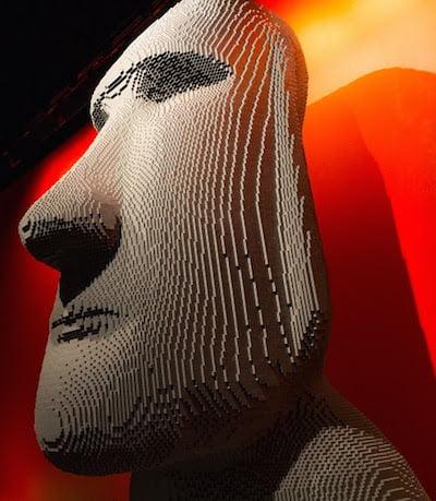 Moai head statue