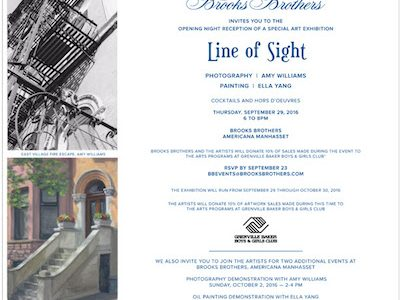 Line of Sight: An exhibition of photography and painting By Amy Williams and Ella Yang