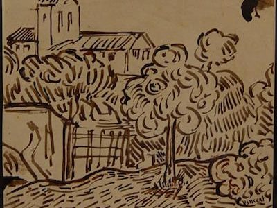 VAN GOGH DRAWING AND WORKS BY LEGER GOTTLIEB AND BASQUIAT FOR WOODSHED GALLERY SALE