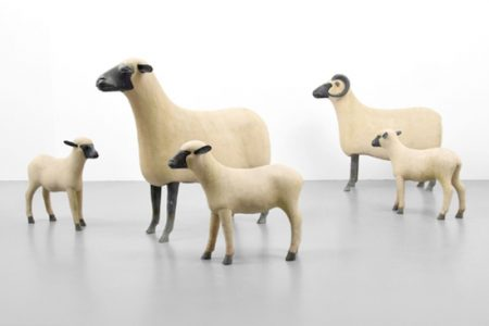 Flock of Lalanne Sheep For Palm Beach Modern Auctions Sale