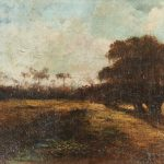 OIL PAINTINGS BY RICHARD CLAGUE AND CLEMENTINE HUNTER FOR CRESCENT CITY AUCTION GALLERY SALE