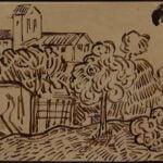 VINCENT VAN GOGH INK DRAWING SOLD IN WOODSHED ART ONLINE SALE
