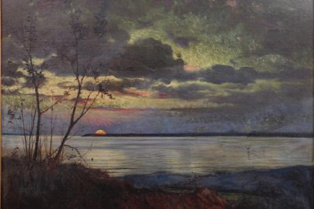 LANDSCAPE PAINTING BY HUDSON RIVER SCHOOL ARTIST JASPER F. CROPSEY MAKES $38,400 AT WOODSHED ART AUCTIONS