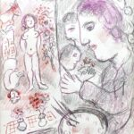 MARC CHAGALL WATERCOLOR FOR A. B. LEVY'S ONLINE SALE